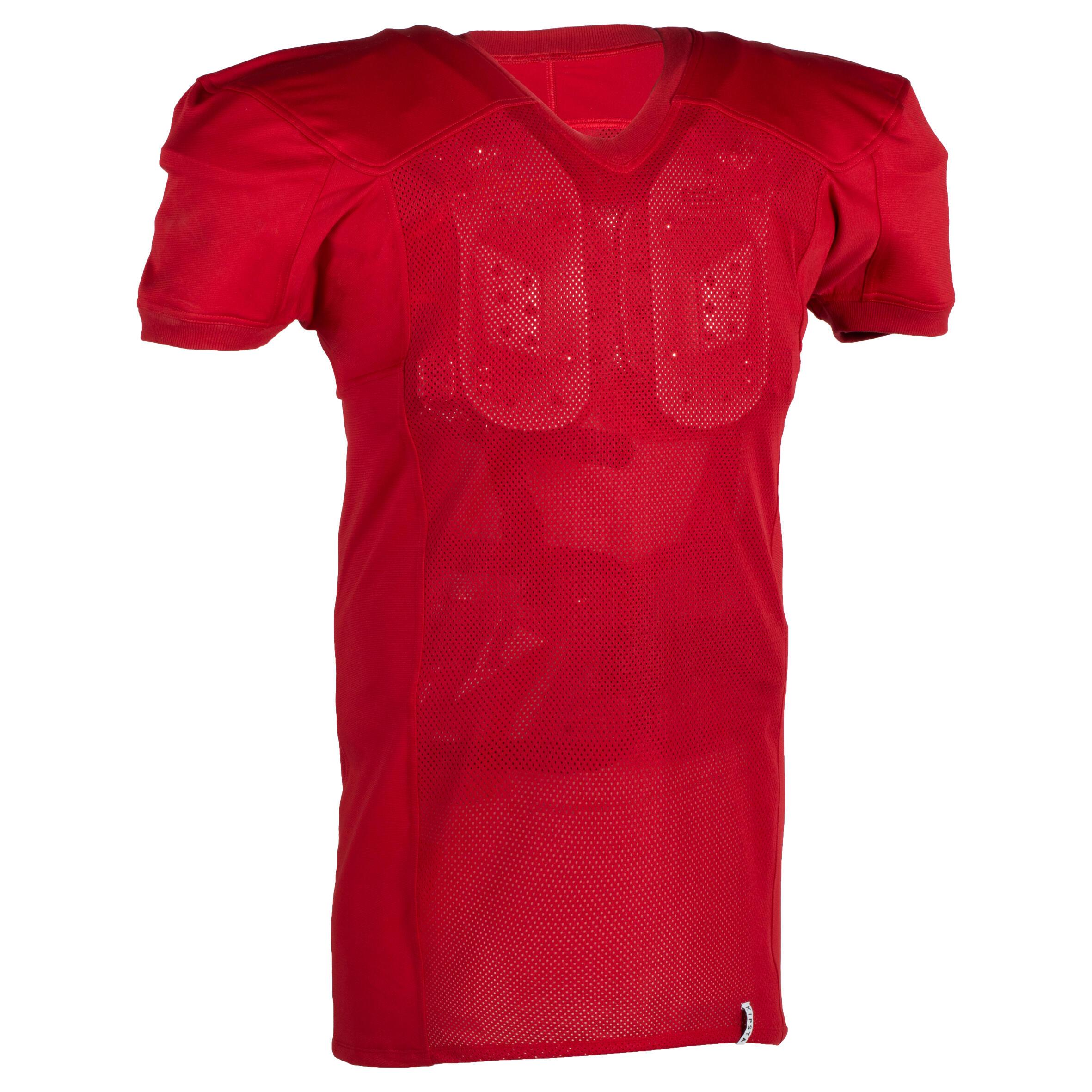 Camiseta de fútbol americano para adultos AF 550 rojo