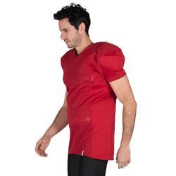 Camiseta Fútbol Americano Kipsta AF 550 Adultos Rojo