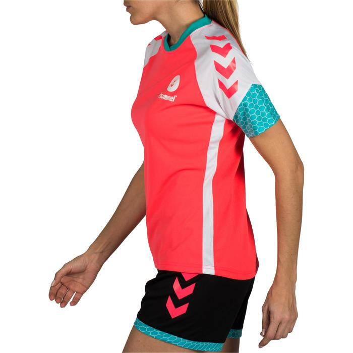 Maillot de handball hummel femme rose blanc bleu turquoise