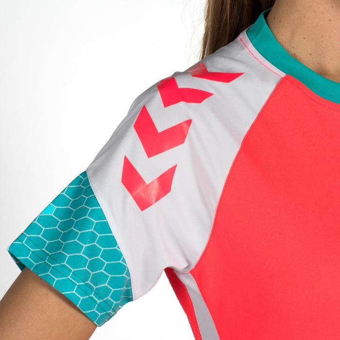 Handbalshirt voor dames Hummel roze wit blauw turquoise
