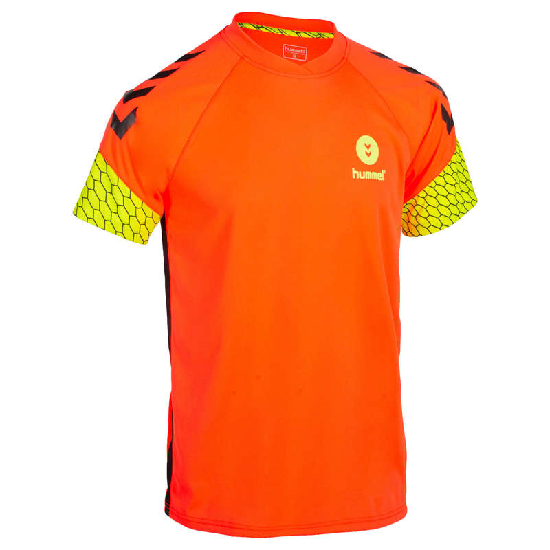 APPAREL SHOES MEN HANDBALL - Jersey - Orange/Yellow HUMMEL