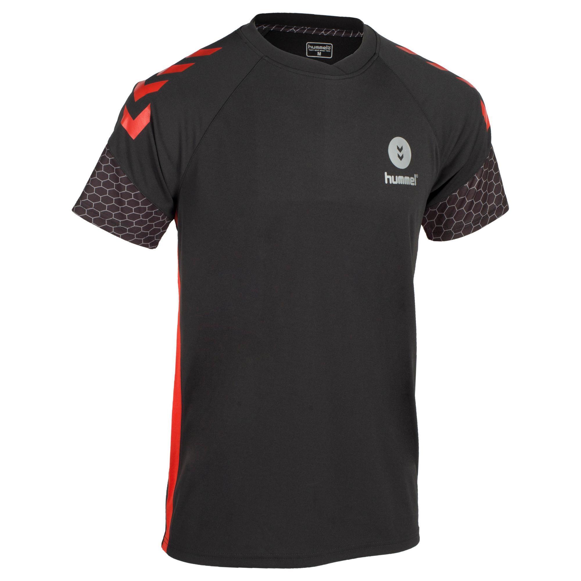 Handballtrikot Herren grau/rot | Sportbekleidung > Trikots > Handballtrikots | Schwarz - Rot | Hummel