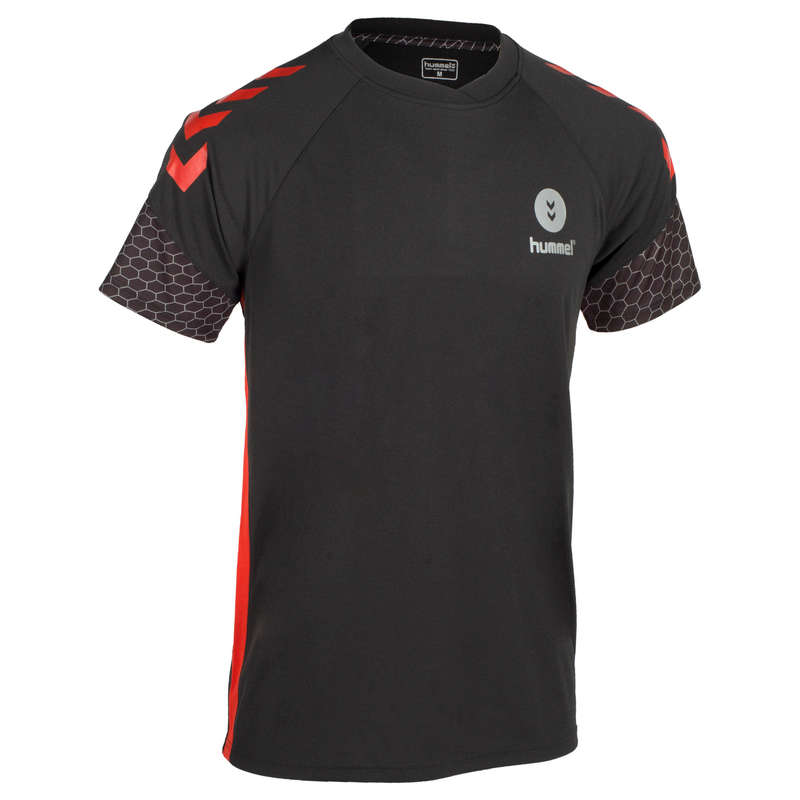 APPAREL SHOES MEN HANDBALL - Shirt - Black/Red HUMMEL