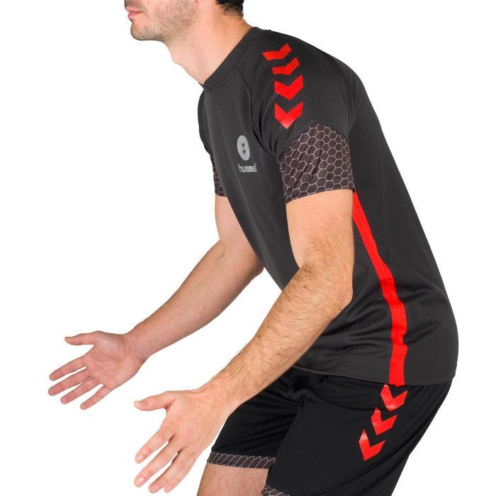 Maillot de Handball adulte Hummel de couleur gris et rouge - 1321160