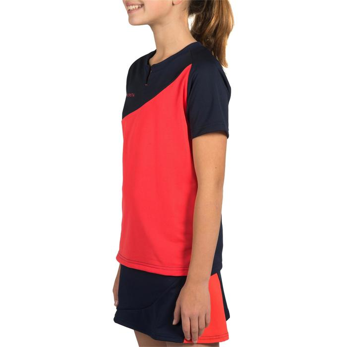 Meisjesshirt voor veldhockey FH100 blauw/roze