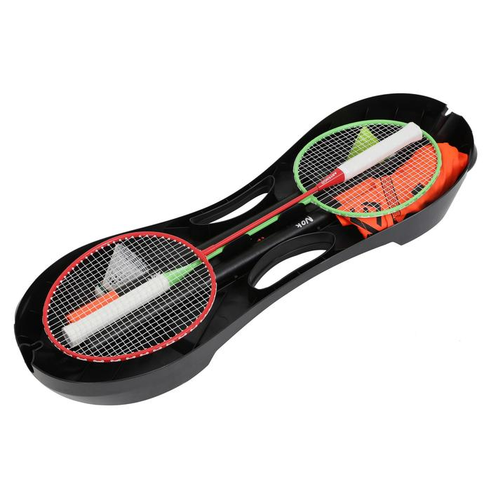 Set met badmintonnetje en rackets Easy Set 3M oranje