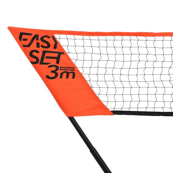 Badminton-Netz Easy Set 3 m orange