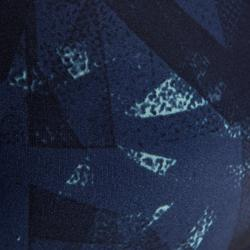 500 Women's Cardio Fitness Bra - Black and Blue Print