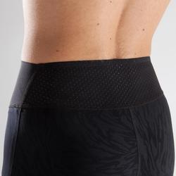 900 Women's Cardio Fitness 7/8 Leggings - Black/Mint Green