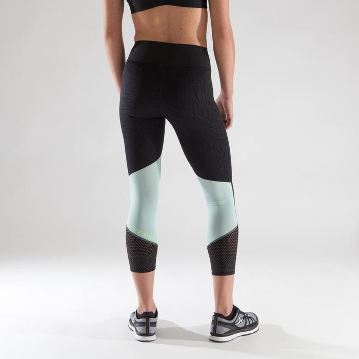900 Women's Cardio Fitness 7/8 Leggings - Black/Mint Green