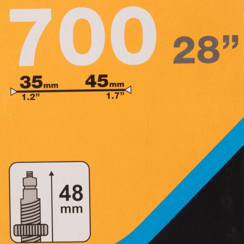 CÁMARA DE AIRE 700X35/45 VÁLVULA PRESTA 35 mm
