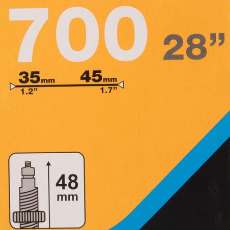 CÁMARA DE AIRE 700 X 35/45 VÁLVULA PRESTA DE  35 MM