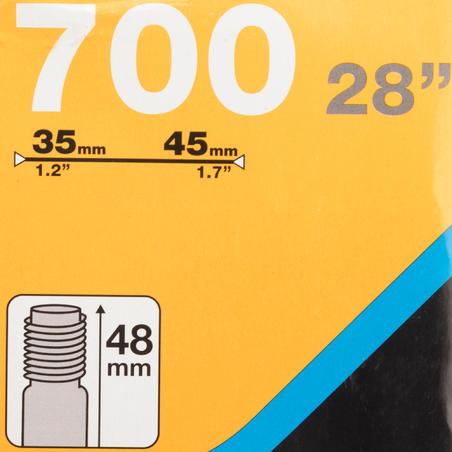 700x35-45 Bike Inner Tube - Schrader