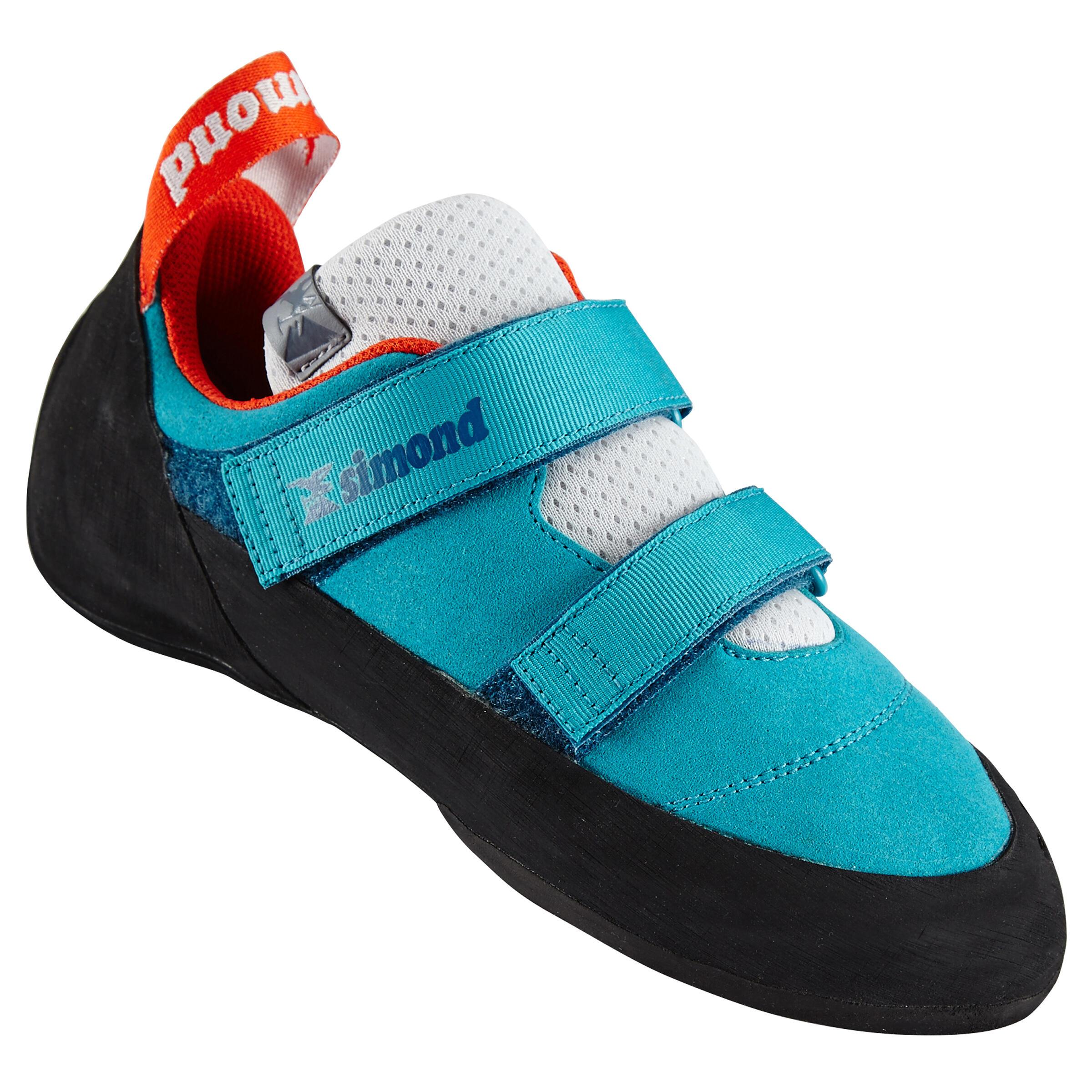Kletterschuhe Rock+ Erwachsene türkis | Schuhe > Outdoorschuhe > Kletterschuhe | Blau - Türkis - Grau | Simond