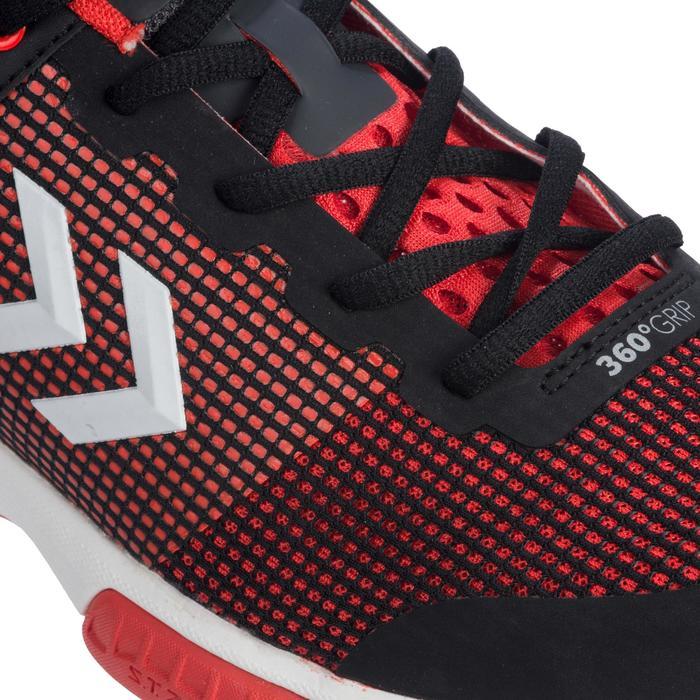 Chaussures de Handball HB180 adulte de couleur noir et rouge. - 1321743