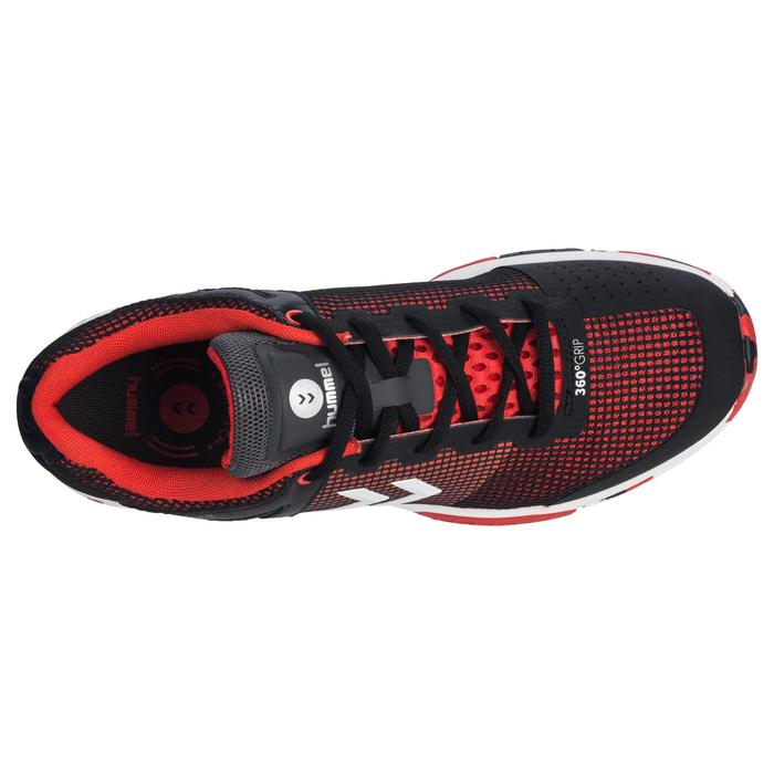 Zapatillas de balonmano HB180 adulto color negro y rojo