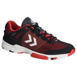 Chaussures de handball adulte HB180 noir rouge
