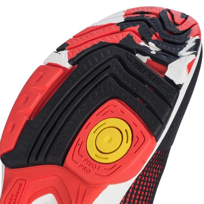 Handbalschoenen voor volwassenen HB180 zwart en rood