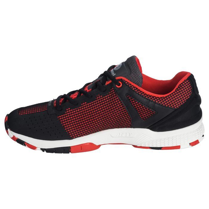 Chaussures de Handball HB180 adulte de couleur noir et rouge. - 1321748