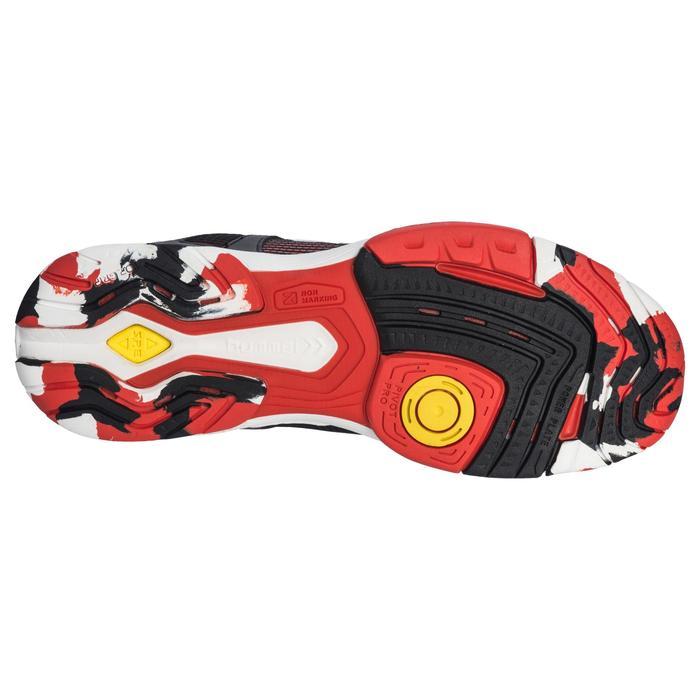 Chaussures de Handball HB180 adulte de couleur noir et rouge. - 1321749