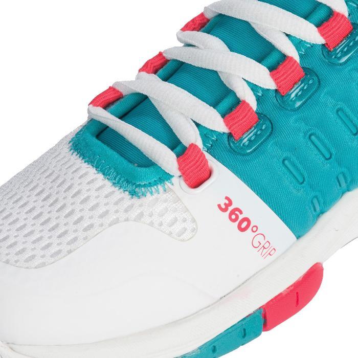 Chaussures de Handball HB200 AEROCHARGE adulte de couleur vertes et roses - 1321752