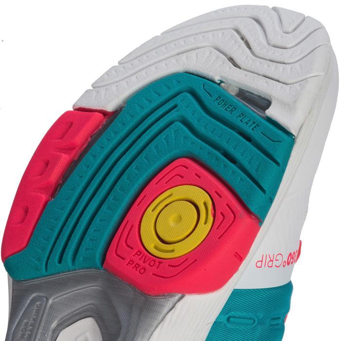 Chaussures de Handball HB200 AEROCHARGE adulte de couleur vertes et roses - 1321753