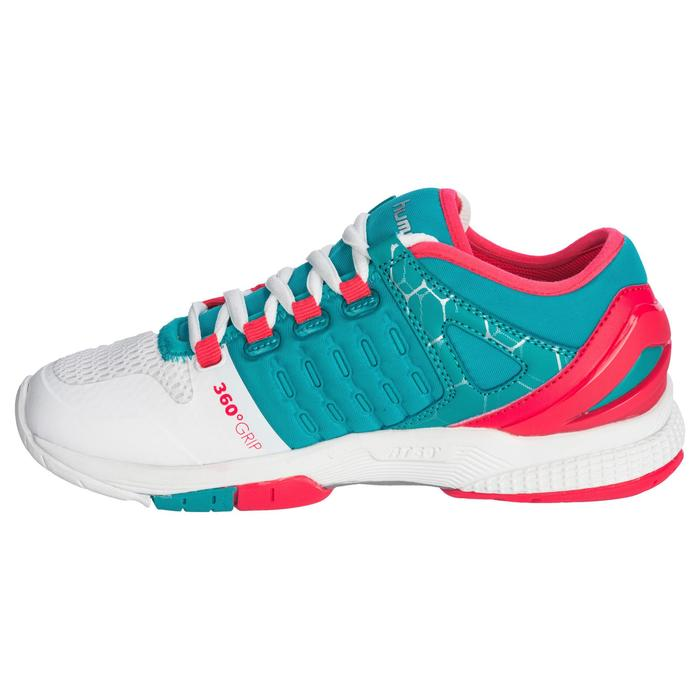 Chaussures de Handball HB200 AEROCHARGE adulte de couleur vertes et roses - 1321754