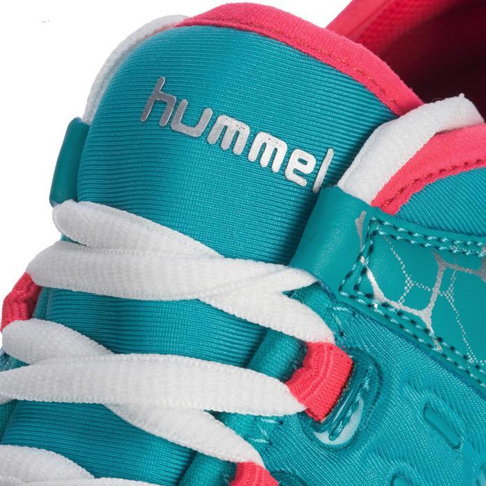 Chaussures de Handball HB200 AEROCHARGE adulte de couleur vertes et roses - 1321755