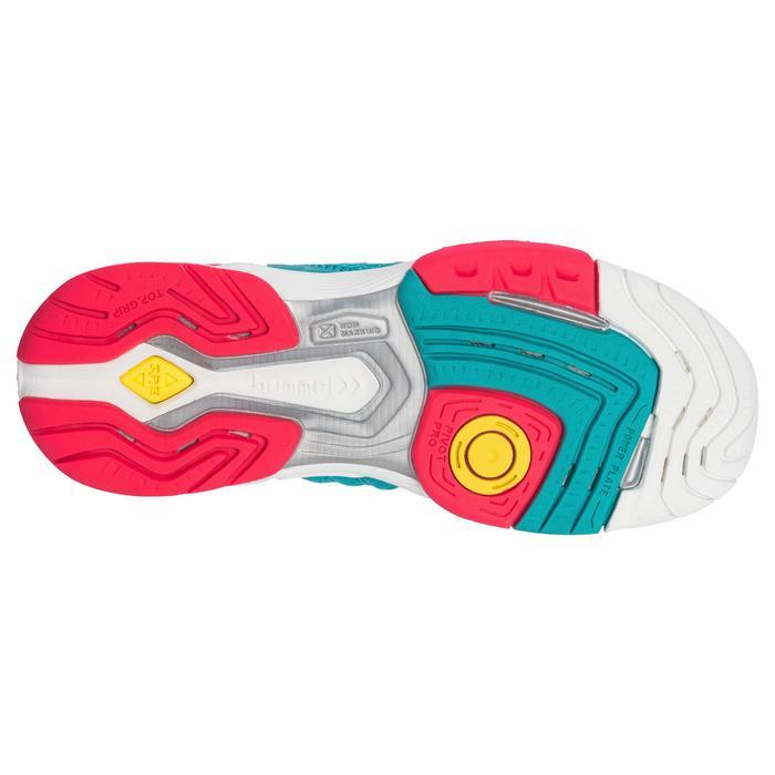 Handbalschoenen voor volwassenen HB200 Aerocharge groen en roze