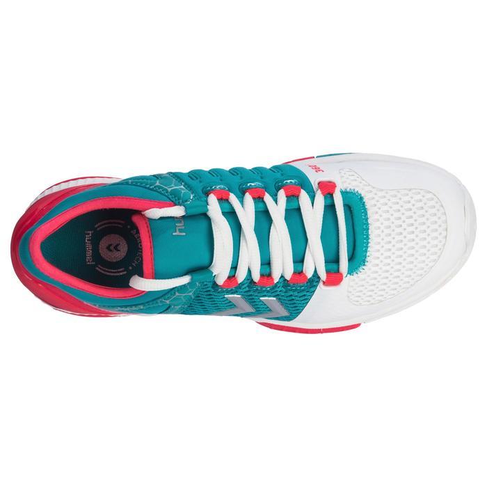 Chaussures de Handball HB200 AEROCHARGE adulte de couleur vertes et roses