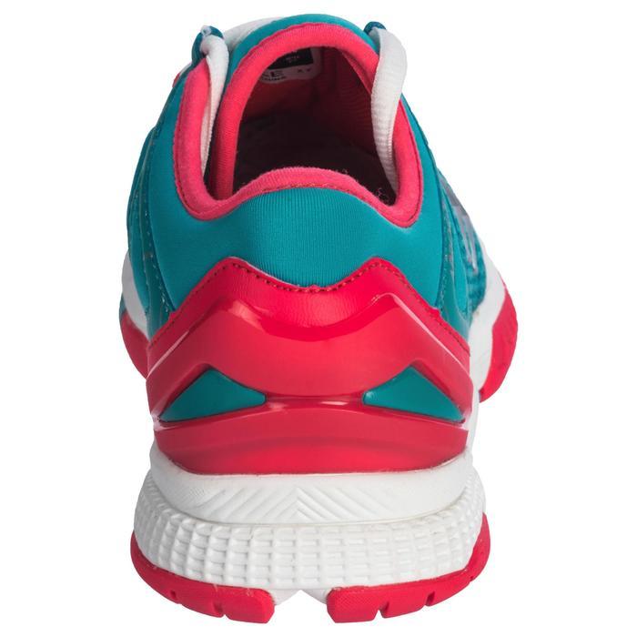 Chaussures de Handball HB200 AEROCHARGE adulte de couleur vertes et roses - 1321760