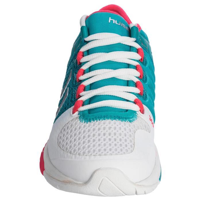 Chaussures de Handball HB200 AEROCHARGE adulte de couleur vertes et roses - 1321761