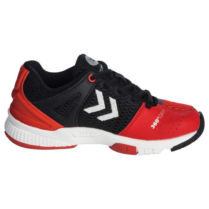 Chaussures de Handball HB200 Junior de couleur noir et rouge