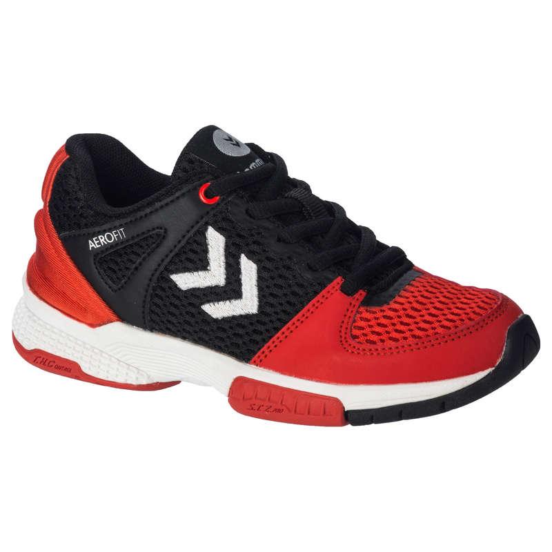 APPAREL SHOES MEN HANDBALL Handball - HB200 Shoes - Black/Red HUMMEL - Handball
