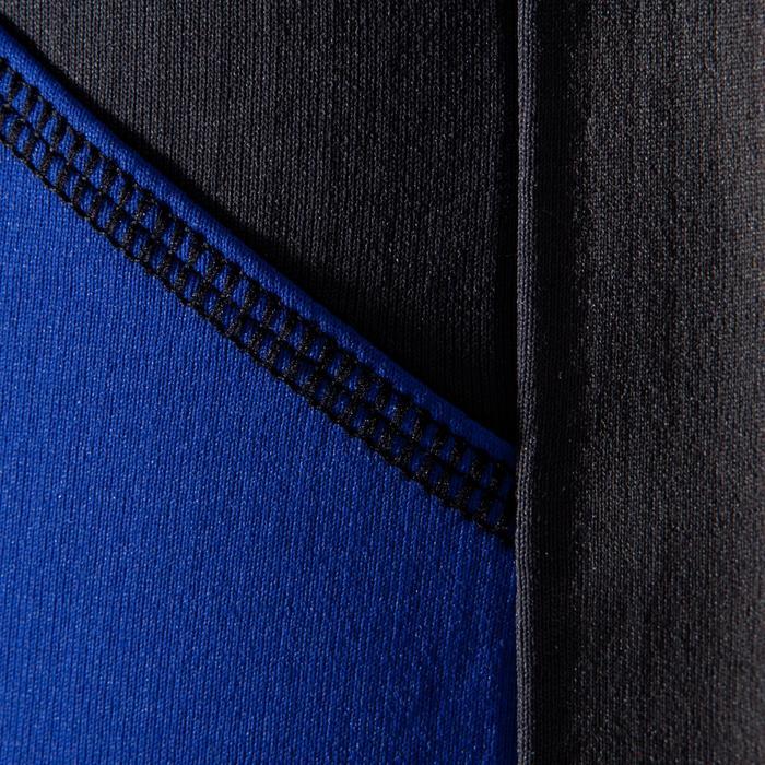 Kletter-Fleecejacke Damen 1/2 Zip indigo/karbongrau