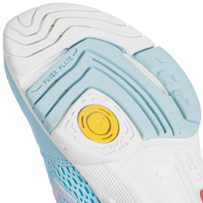Chaussures de Handball HB200 junior de couleur bleu et rose - 1321789