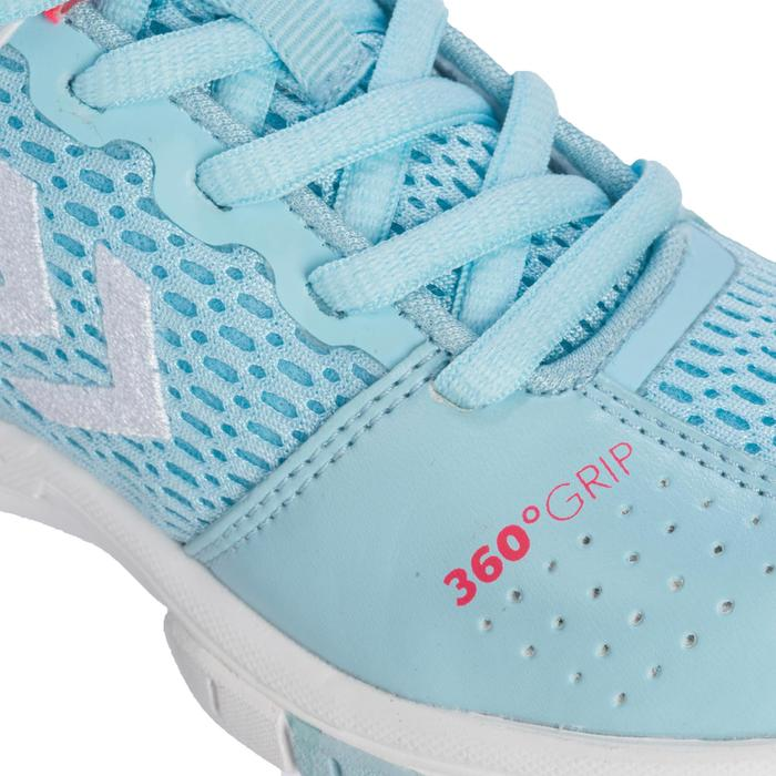 Chaussures de Handball HB200 junior de couleur bleu et rose - 1321790