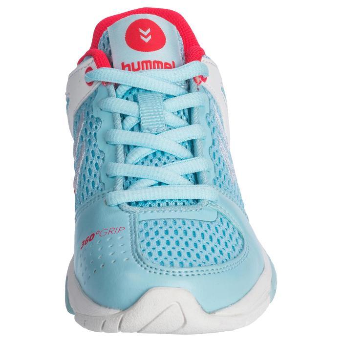 Chaussures de Handball HB200 junior de couleur bleu et rose - 1321792