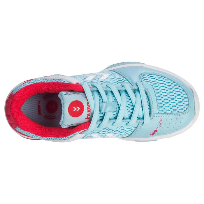 Chaussures de Handball HB200 junior de couleur bleu et rose - 1321793