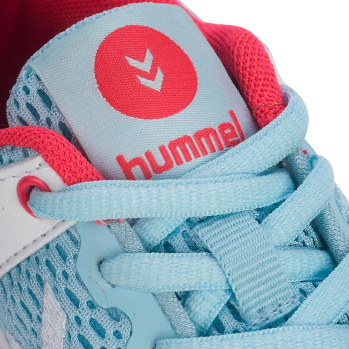 Chaussures de Handball HB200 junior de couleur bleu et rose - 1321796