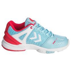 Chaussures de Handball HB200 junior de couleur bleu et rose