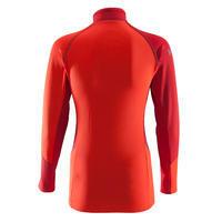Women's Mountaineering 1/2 Zip Fleece - Vermilion & Maroon Red