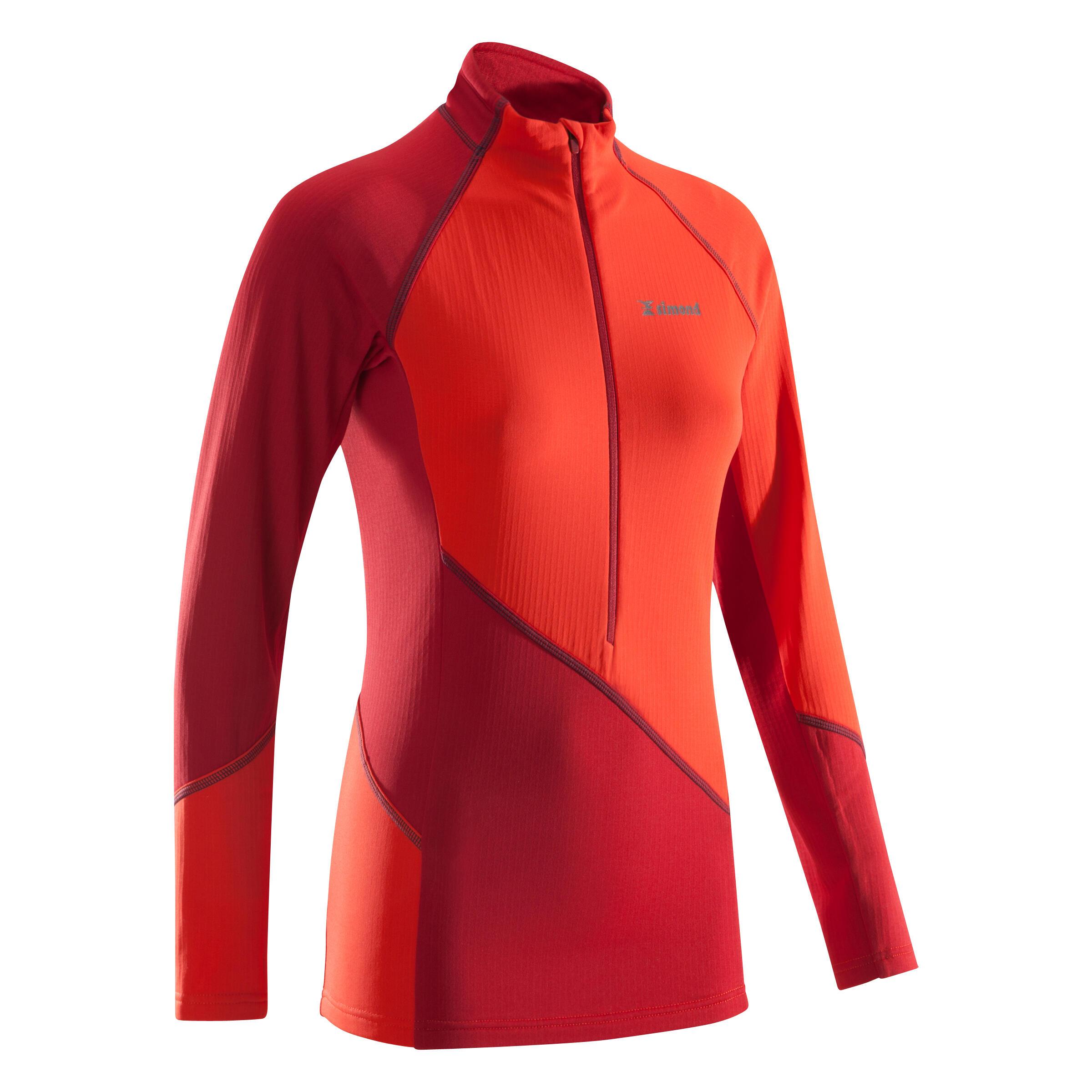 Klettershirt Alpinism 1/2 Zip Damen rot/zinnoberrot | Sportbekleidung > Sportshirts > Klettershirts | Rot - Orange - Bordeaux | Fleece | Simond