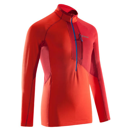 Men's Mountaineering 1/2 Zip Sweatshirt Vermilion Red