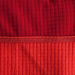 SUDADERA DE ALPINISMO 1/2 CREMALLERA HOMBRE Rojo bermellón