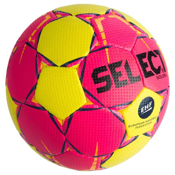 Ballon de handball adulte solera T2 rose / jaune