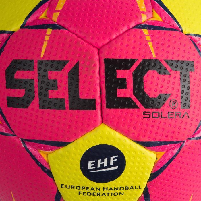 Ballon de handball Select SOLERA de couleur Rose et jaune taille 2 - 1321882