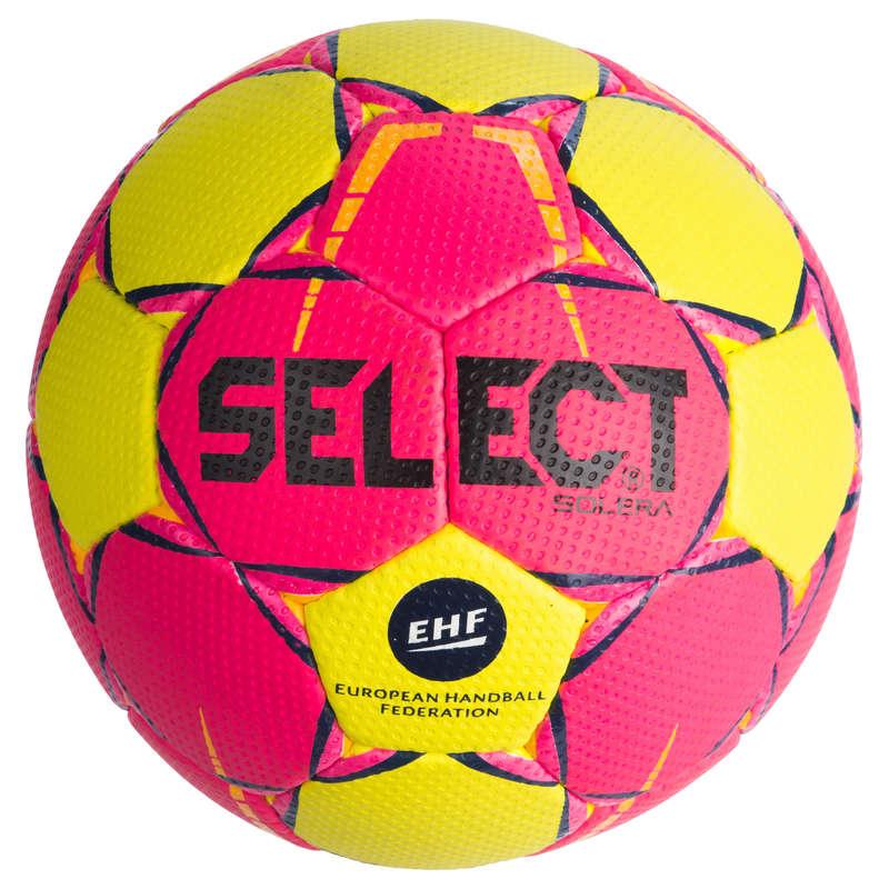 PIŁKA RĘCZNA Siatkówka, piłka ręczna, baseball, hokej - Piłka Solera rozm.2 róż-żółty SELECT - Sporty drużynowe