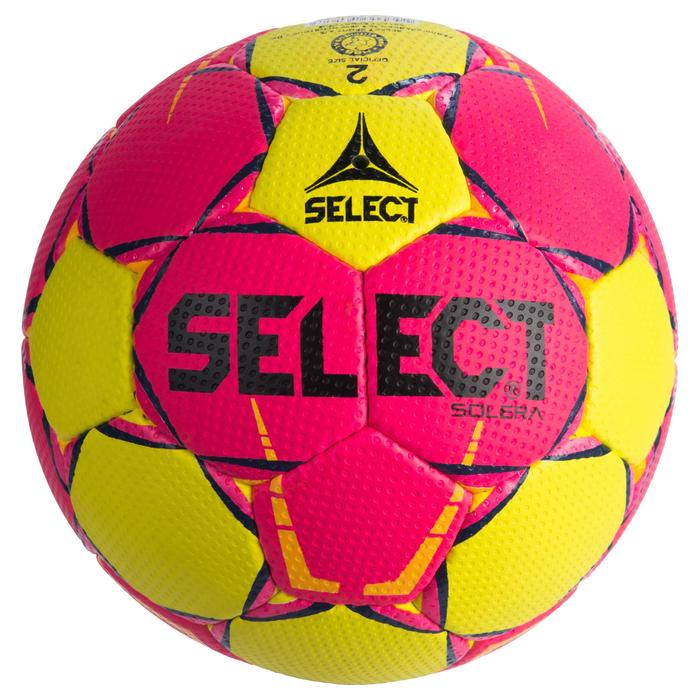 Ballon de handball Select SOLERA de couleur Rose et jaune taille 2 - 1321888