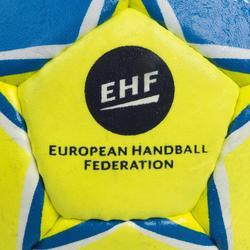 Ballon de handball adulte maxi grip T3 jaune / bleu